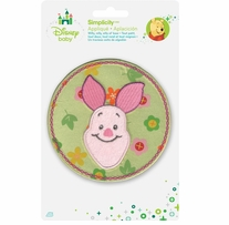 Disney's Winnie The Pooh, Piglet Flower Circle Iron-On Applique
