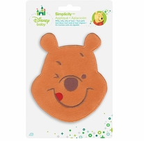 Disney's Winnie the Pooh, Smiling Iron On Applique 4.125in x 4.875in