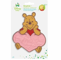 Disney's Winnie the Pooh, with Heart Iron On Applique