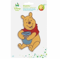Disney's Winnie the Pooh, with Honey Pot Iron On Applique