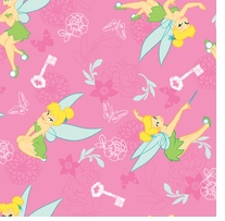 Disney Tinkerbell Flannel Tink With Key & Butterfly 42/43inX10yds D/R