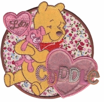 Disney Winnie The Pooh Let's Cuddle Iron On Applique
