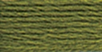 DMC Embroidery Floss Dark Moss Green #580 - Click to enlarge