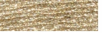 DMC Light Effects Floss 8.7 Yards White Gold #E677