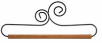 Double Scroll Fabric Hanger 8in Dowel