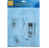Double Wedding Ring Template3 Pieces