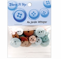 Dress It Up Au Jardin Buttons Whisper