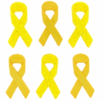 Dress It Up Embellishments Awareness Ribbon Yellow