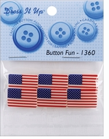 Dress It Up Embellishments Button Fun Flags