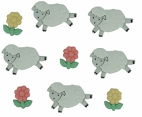 Dress It Up Embellishments Counting Sheep