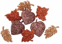 Dress It Up Embellishments Glitter Autumn Leaves