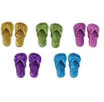 Dress It Up Embellishments Glitter Flip Flops