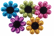 Dress It Up Embellishments Glitter Flowers