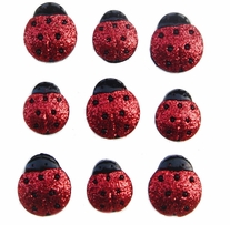 Dress It Up Embellishments Glitter Ladybugs