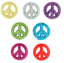 Dress It Up Embellishments Glitter Peace Signs