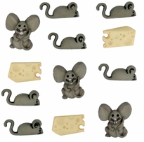Dress It Up Embellishments Mice and Cheese