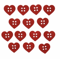 Dress It Up Embellishments Sew Cute Red Hearts