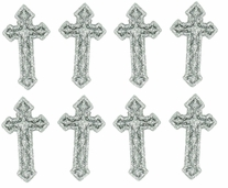 Dress It Up Embellishments Silver Cross