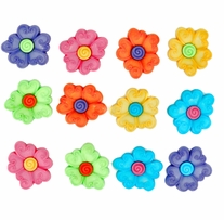 Dress It Up Embellishments Swirl Center Flower
