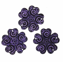 Dress It Up Flats Embellishments Purple Swirl Flower