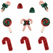 Dress It Up Holiday Embellishments Candy Stripe