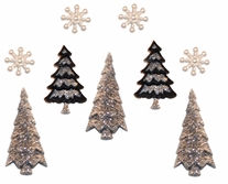 Dress It Up Holiday Embellishments Contemporary Trees