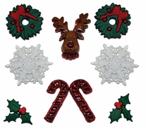 Dress It Up Holiday Embellishments Deck The Halls