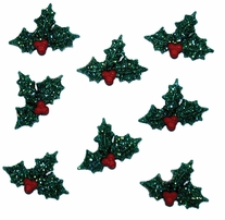 Dress It Up Holiday Embellishments Glitter Holly