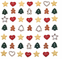 Dress It Up Holiday Embellishments Itty Bitty Cut Out Cookies
