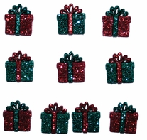 Dress It Up Holiday Embellishments Small Glitter Presents