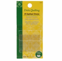 Dritz Quilting Applique Sharps Needles Size 10