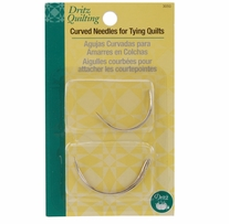 Dritz Quilting Curved Needles Size 2in and Size 2-1/2in