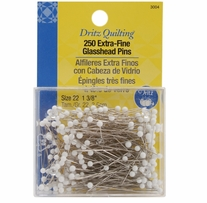 Dritz Quilting Extra Fine Glass Head Pins 1-3/8in