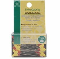 Dritz Quilting Flat Butterfly Pins 2in