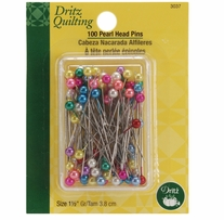 Dritz Quilting Pearl Head Pins 1-1/2in