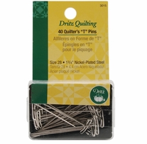 """Dritz Quilting Quilter's """"T"""" Pins"""