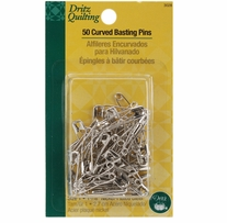 Dritz Quilting Steel Curved Basting Pins Size 1