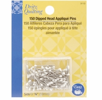 Dritz Quilting White Dipped Head Applique Pins