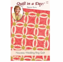 Eleanor Burns Patterns Nouveau Wedding Ring Quilt
