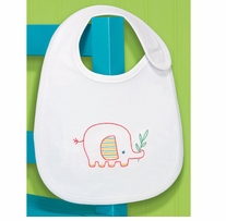 Elephant Bib Embroidery Kit 7.5 x 9in 1/Pkg