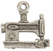Embellishment Charms Silver Sewing Machine