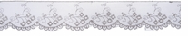 Embroidered Scalloped Mesh Lace Light Grey 2inX10yds