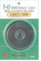 Ergo 2000 Rotary Cutter 45mm Replacement Blades 5/Pkg