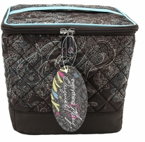 Everything Mary Quilted Sewing Organizer Turquoise & Chocolate