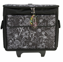 Everything Mary Rolling Sewing Tote Black & White