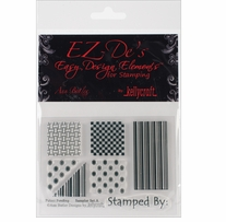 EZ-De's Clear Stamps 3X4 Sheet-Sampler Set A