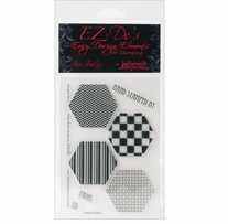 EZ-De's Clear Stamps 4X6 Sheet-Hexagon Set A
