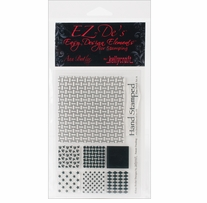EZ-De's Clear Stamps 4X6 Sheet-Nine Patch Set A