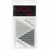 EZ-De's Clear Stamps 4X6 Sheet-Tri Triangle Set A