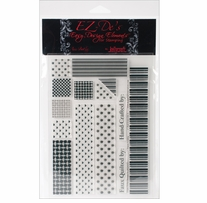 EZ-De's Clear Stamps 6X8 Sheet-1 Rail Fence Set A